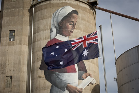 Devenish Silo Art was officially opened on Anzac Day Eve 2018