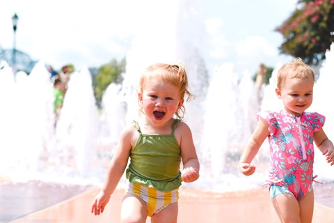 Children at Splash Park