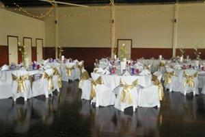 Small wedding setup at the Benalla Drill Hall Community Activity Centre