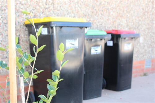 Image of waste collection bins